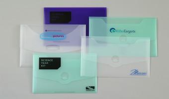Plastic wallet supplier in Derbyshire