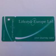 Club card with tear off key card printing